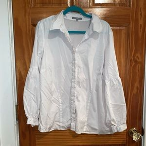 White button up long bell sleeves